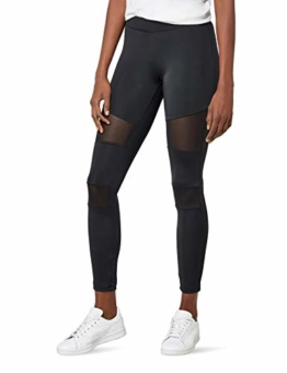 Urban Classics Ladies Tech Mesh Leggings, Schwarz (black 7), S - 1