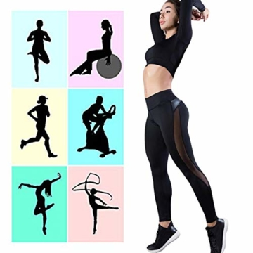 WHFDDDK Frauen Yoga Hosen Push Up Fitness Gym Sport Leggings Laufen Mesh Yoga Legging Nahtlose Trainingshose Femme Hohe Taille - 3