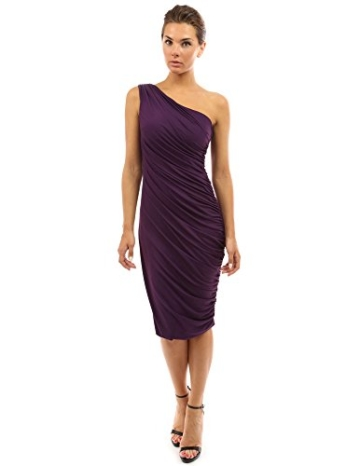 PattyBoutik Damen Sexy One-Shoulder Cocktailkleid