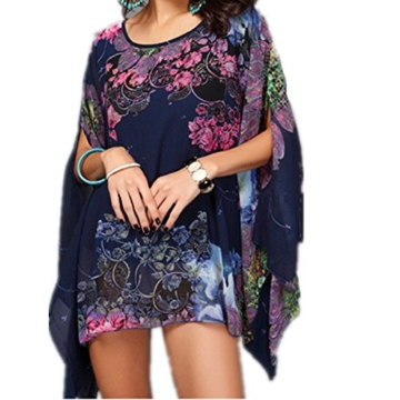 Top One Damen mit Blumen Chiffon Blusen