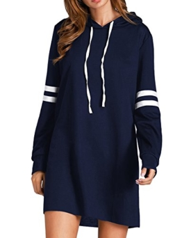 Flying Rabbit Damen Hoodie Damen Langarm Sweatshirt Damen Langarm Hoodies Casual Herbst Kleid, Marine, XL - 1