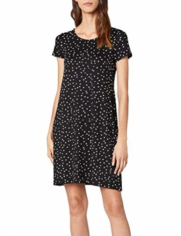 ONLY NOS Damen onlBERA Back LACE UP S/S Dress JRS NOOS Kleid, Mehrfarbig (Black AOP: Triangle Square), 40 (Herstellergröße: L) - 1