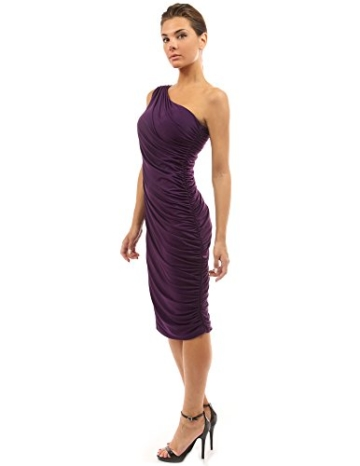 PattyBoutik Damen Sexy One-Shoulder Cocktailkleid -