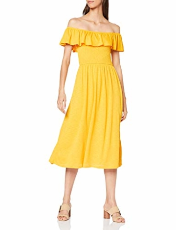 TOM TAILOR Damen 1009470 Kleid, Gelb (Golden Yellow 17278), Medium - 1