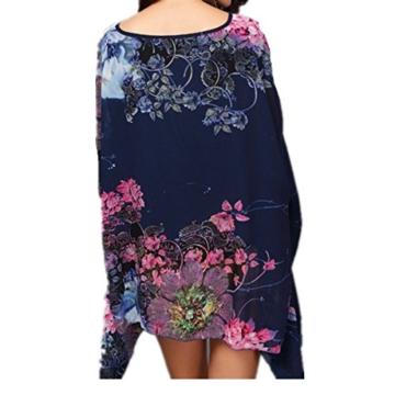 Top One Damen mit Blumen Chiffon Blusen -