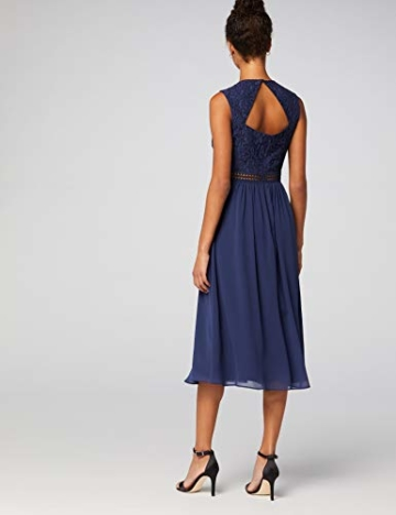 TRUTH & Fable Lace Trim Bridesmaid Midi Hochzeitskleid, Blau (Blue), 38 (Herstellergröße: Medium) - 6