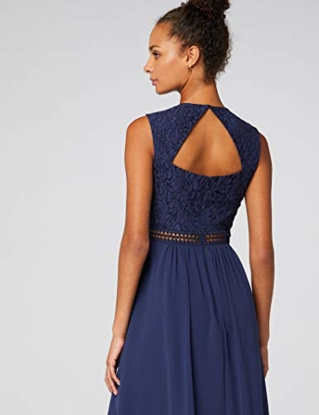 TRUTH & Fable Lace Trim Bridesmaid Midi Hochzeitskleid, Blau (Blue), 38 (Herstellergröße: Medium) - 7