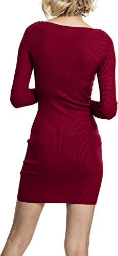 Urban Classics Damen Ladies Cut Out Dress Kleid, Rot (Burgundy 606), Small - 2