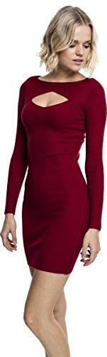 Urban Classics Damen Ladies Cut Out Dress Kleid, Rot (Burgundy 606), Small - 3