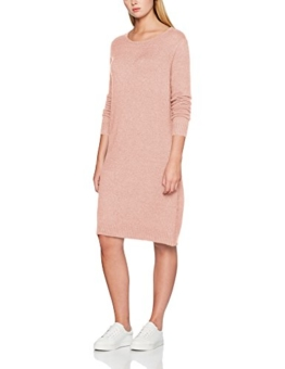 VILA CLOTHES Damen Kleid VIRIL L/S Knit Dress-NOOS, Rosa (Ash Rose Detail:Melange), M - 1