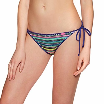 Superdry Crochet Carnival Tri Womens Bikini Bottoms Medium Multi Stripe - 1