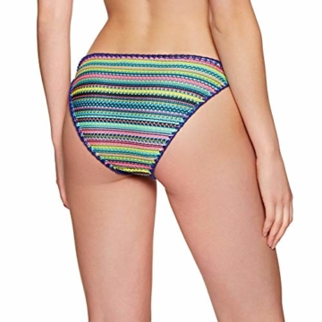 Superdry Crochet Carnival Tri Womens Bikini Bottoms Medium Multi Stripe - 4