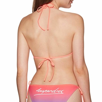 Superdry Riley Ombre Tri Bikini Top UK 8 Reg Sunset Ombre - 4