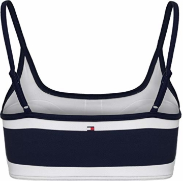 Tommy Hilfiger Bralette Womens Bikini Top Small Pique Blockstar Navy Blazer - 2
